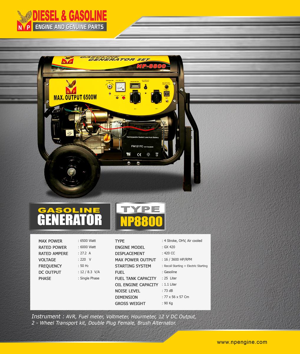 GENERATOR-NP8800