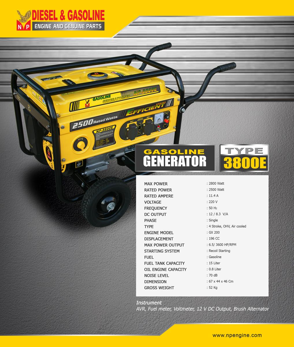 GENERATOR-Set-3800E